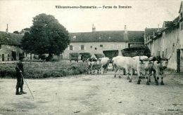 N°39381 -cpa Villeneuve Sous Dammartin -ferme Du Domaine- - Fermes