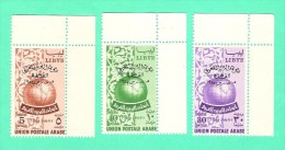 Libia  3 V.  Union Postale Arabe  1954 -  MNH** - Libia
