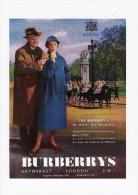 Poster Art Postcard Burberrys Haymarket London Weatherproof Coat Horseguard - Pubblicitari