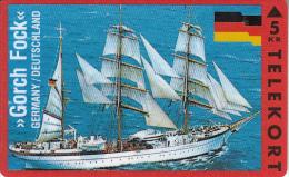 DENMARK - Sailing Boat, Gorch Fock/Germany, Tirage 2500, 09/93, Mint - Bateaux