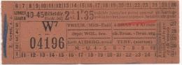 Ticket de Tramways Bruxellois. Billet Direct 2m Classe.