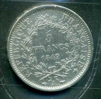FRANCE  :  PIECE DE  5  FRANCS  ARGENT  HERCULE  ANNEE  1849 ,  A VOIR. - J. 5 Franchi