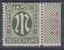 AM-Post Minr.29 SR Rote Pl.-Nr.7287 Postfrisch - Bizone