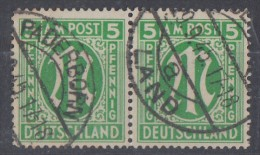 AM-Post Minr.2x 12 Waager. Paar Gestempelt - Bizone