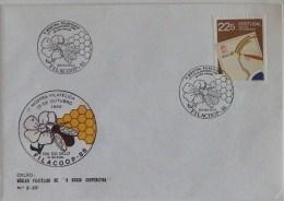 Portugal - Honeybee And Flower - Filacoop 86 - Stamp Day - Santa Iria Da Azoia 1986 - Abeilles