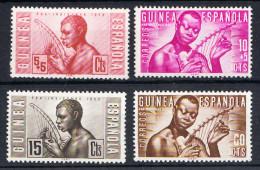 GUINEA ESPAÑOLA.1953.PRO INDIGENAS .EDIFIL Nº 321/324 .NUEVO SIN   CHARNELA. SES 895 - Guinée Espagnole