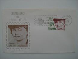 ESPAÑA - SOBRE PRIMER DIA - FDC - AÑO 1980 - EDIFIL Nº 2574 - CENTENARIO DE HELEN KELLER - 1971-80 Lettres