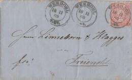 NDP Brief EF Minr.16 Werdohl 18.11.1869 - Norddeutscher Postbezirk