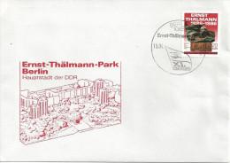 Germany (DDR) 1986  Ernst-Thalmann-Parks, Berlin   FDC  Mi.3014 - FDC: Enveloppes