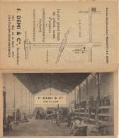 Demi Tout Pour L'automobile Chatillon Sous Bagneux Seine Carte Dépliante Publicitaire De La France En 15 Volets - Publicités