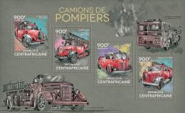 CENTRAL AFRICA 2014 - Fire Trucks. Official Issue - Firemen