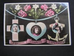 == Luxemburg Phantasie Karte Bahnhpost RümelingenNoerthzange 1907 - Petingen
