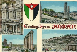 --GREETINGS FROM JORDAN---MULTIVUES ECRITE AU VERSO LE 18/6/1973-- - Jordanie