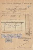 4 Documents Charbon Charbonnage Bois Du Luc Houdeng Aimeries - Belgium