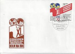 Germany (DDR) 1986  Weltgewerkschaftskongress, Berlin  FDC  Mi.3049 - [6] Democratic Republic