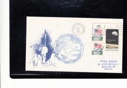 SPACE -   USA -  1972 - APOLLO XVII COVER  WITH KKENNEDY SPACE CENTRE   POSTMARK - Etats-Unis