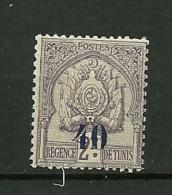 TUNISIE1908     N° 44   Timbre De 1888/1899 Surchargé       NEUF - Neufs