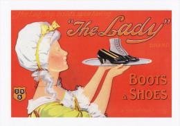 Poster Art Print The Lady Boots & Shoes Edwardian Image Postcard Size Brand - Prints & Engravings