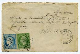 1er Sept 1871 Montfaucon du Velay / Dept 41 Haute Loire /  1er jour du tarif � 25c / RRR