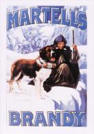 Poster Art Postcard Martell´s Brandy St Bernard Dog Barrel Advertisement - Werbepostkarten