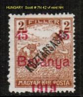 HUNGARY---Baranya   Scott  # 7N 42** VF MINT NH - Baranya