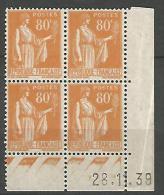 COIN DATE N� 366 / 1939 NEUF* TB