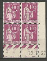 COIN DATE N� 281 / 1937 NEUF* TTB