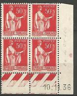 COIN DATE N� 283 / 1936 NEUF* TTB
