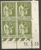 COIN DATE N� 284A / 1935 NEUF* TTB