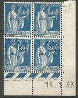 COIN DATE N� 288 / 1933 NEUF* TTB