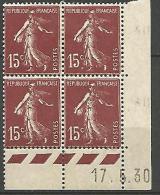 COIN DATE N� 189 / 1930 NEUF* TB
