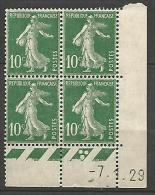 COIN DATE  N� 159  / 1929 NEUF* TTB