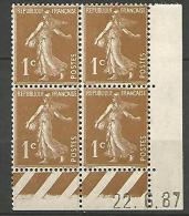 COIN DATE  N� 277B  / 1937 NEUF* TTB