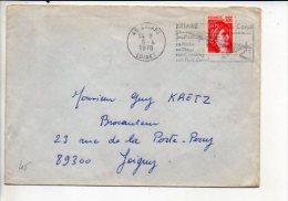 """1978  Dateur (à Gauche)  Briare 45 - Flamme Illustrée Sécap""""Pêche,Camping,Pont Canal """"entète Ass.Commerciale,Artisanal E - Postmark Collection (Covers)"""