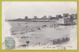 Pontaillac - La Plage (restaurant, Villas, Abris De Toile Et Fauteuils, Petite Animation) Circulé 1904 - France