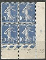 COIN DATE  N� 279  / 1932 NEUF* TTB