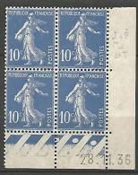 COIN DATE  N� 279  / 1936 NEUF* TTB