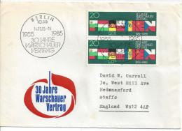 Germany (DDR) 1985  30 Jahre Warschauer Vertrag  FDC  Mi.2946 - FDC: Enveloppes