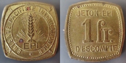 1 Franc 1931 Epi Entente Pacifique Internationale Strasbourg - Monétaires / De Nécessité