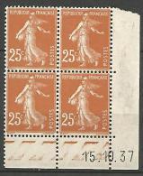 COIN DATE  N� 235  / 1937 NEUF* TTB