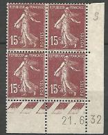COIN DATE  N� 189  / 1932 NEUF* TTB