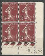 COIN DATE  N� 189  / 1935 NEUF* TTB