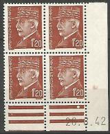 COIN DATE  N� 515  / 1942 NEUF* TTB