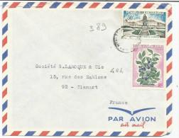 SAINT PIERRE & MIQUELON N°389 ET 404 SUR LETTRE - St.Pierre Et Miquelon