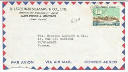 SAINT PIERRE & MIQUELON N°411 SUR LETTRE DU 4/10/71 - St.Pierre Et Miquelon