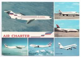 CP, TRANSPORTS, AVIATION, AVIONS, Flotte Utilisée Par AIR CHARTER, Filiale D'AIR FRANCE Et D'AIR INTER, Vierge, Ed : P.I - 1946-....: Ere Moderne