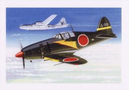 Aviation Art Postcard WW2 Japan Mitsubishi J2M3 Raiden Aircraft John Batchelor - 1939-1945: 2ème Guerre