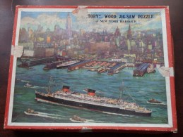 """"""" VICTORY """" Wood Jig-Saw Puzzle Of NEW YORK HARBOUR ( See Picture For Details ) ! - Other"""