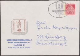 Allemagne 1971. Privatganzsache, Entier Postal Timbré Sur Commande. Habra'71 Hanovre, Journée Du Timbre. Hannover - Tag Der Briefmarke