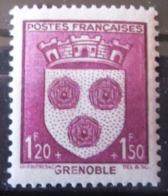 FRANCE Armoirie De Grenoble N°557 Neuf ** - 1941-66 Wappen